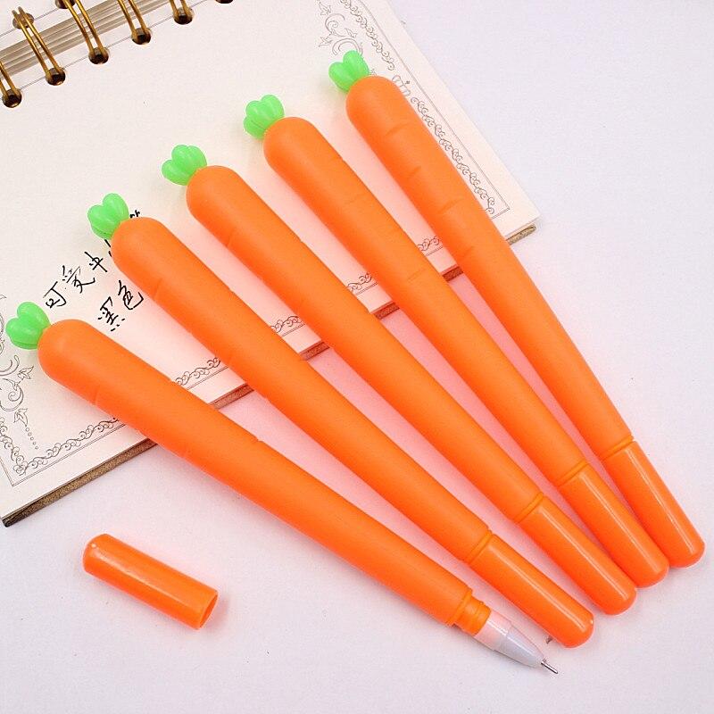 1-pcs-criativo-bonito-canetas-gel-refil-preto-neutro-caneta-papelaria-coreano-personalizado-assinatura-estudante-cenoura-caneta-05mm-base-de-Agua