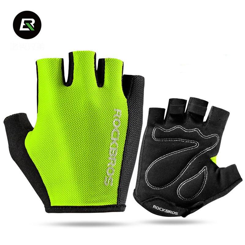 Rockbros Summer Road MTB Bike Gloves Pro Cycling Gloves Women Men Half Finger Padded Shockproof Sport Mountain Bicycle Gloves