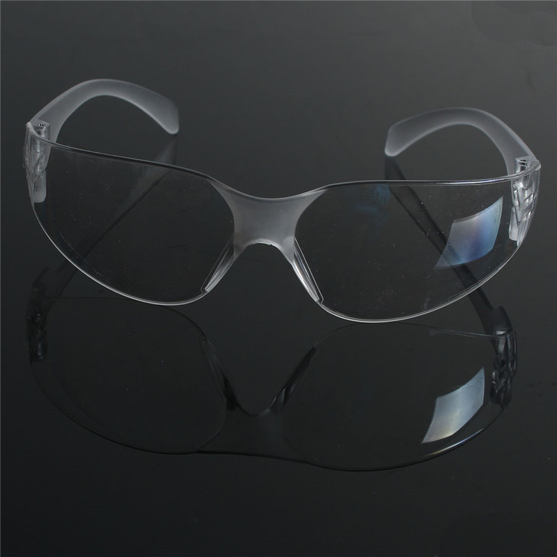 NEW 1 PCS Safety Glasses Lab Eye Protection Protective Eyewear Clear Lens Workplace Safety Goggles Supplies protective glasses blue and white color safety goggles eye protection workplace safety supplies