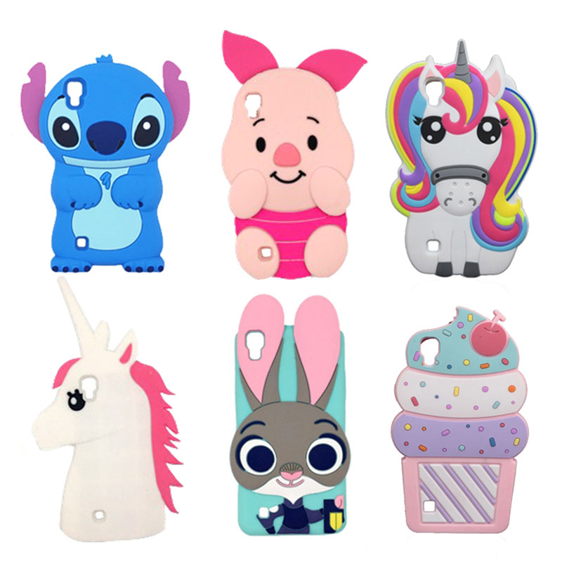 For LG X Power Case 3D Silicone Ice Cream Cupcakes Minnie Stitch Cartoon Soft Phone Cover For LG X Power K210 K220 K220DS LS755