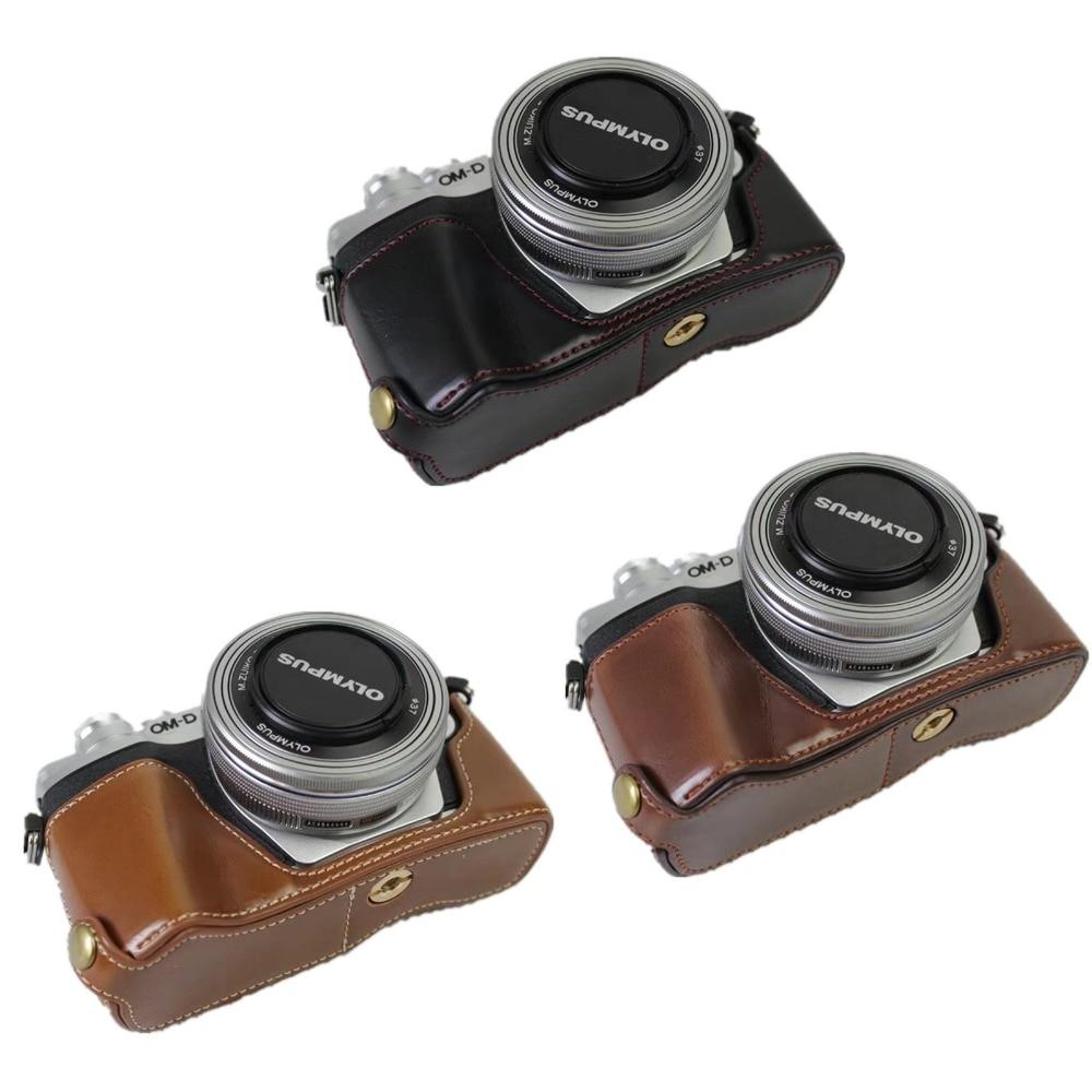 PU Leather Half Case Grip for Olympus OM-D OMD E-M10 Mark II EM10 M2 EM10II Camera Battery Opening curt car toyota prius 2009