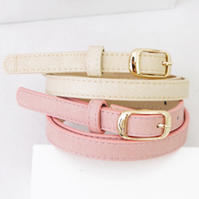 Fresh sweet pink belt women's casual all-match shorts belt pin buckle decoration strap