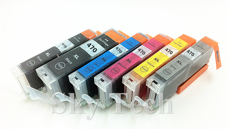6PK kompatibilis tintapatronok a PGI470XL CLI471XL-hez, PIXMA MG5740 - Irodai elektronika