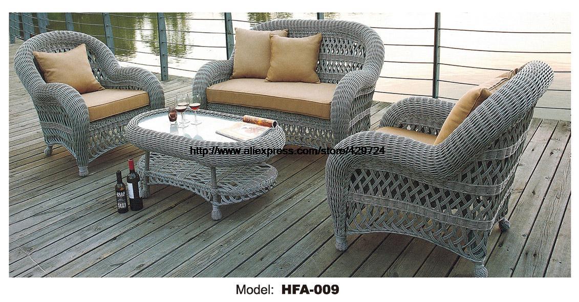 Luxury Handmake Round Rattan Outdoor Sofa Set Garden Patio Furniture Sofa Sillas Glass Table Cane Sofa Set Balcony Furniture