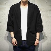 Free shipping Linen men big size M 5XL shirt Embroidery cardigan Chinese style fat guy men's Casual long sleeve shirts