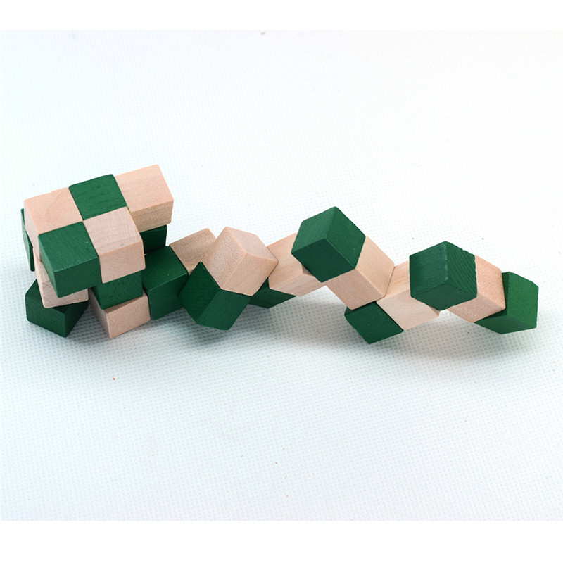 Image 2 - 27 Sections  Wooden Snake Ruler Snake Twist Puzzle Hot Selling Challenge IQ Brain Toys Classic Game-in Magic Cubes from Toys & Hobbies