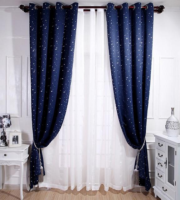 NAPEARL Beau ciel étoile à motifs rideaux rideau store occultant ...