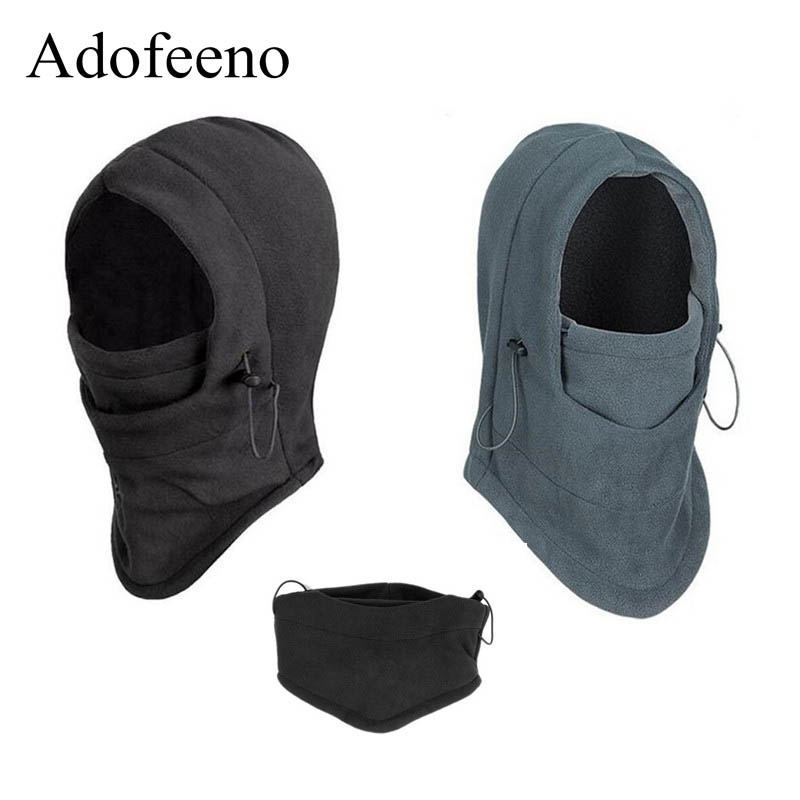 Adofeeno Warm Winter Fleece Beanies Hats for Men Women Skull Bandana Neck Warmer Balaclava Snowboard Face Mask CS Masks face skullies beanies mask motorcycle fleece winter warm beanies hats colorful neck warmer