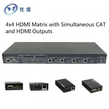 YOUTING YT-HDM944S50M 4x4 HDMI Matrix hdmi extender 50M HDMI switcher signal up to 164ft for multi-room connectivity 1080P