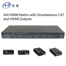YOUTING YT-HDM944S50M 4×4 HDMI Matrix hdmi extender 50M HDMI switcher signal up to 164ft for multi-room connectivity 1080P