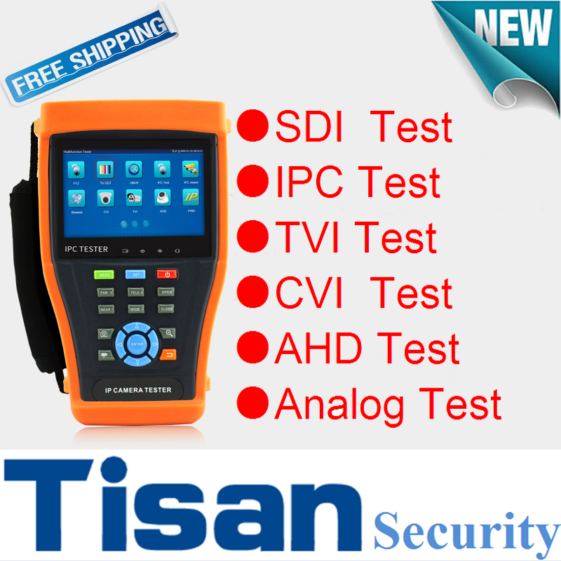 4 3 inch Analog 3 0 TVI HD SDI AHD CVI IP camera tester 6 IN
