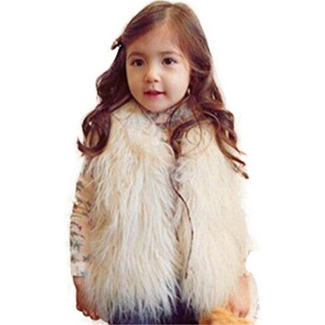 b26c9ce4c240 Children S Fashion 2016 Kids Winter Coat Girls Elegant White Tan ...