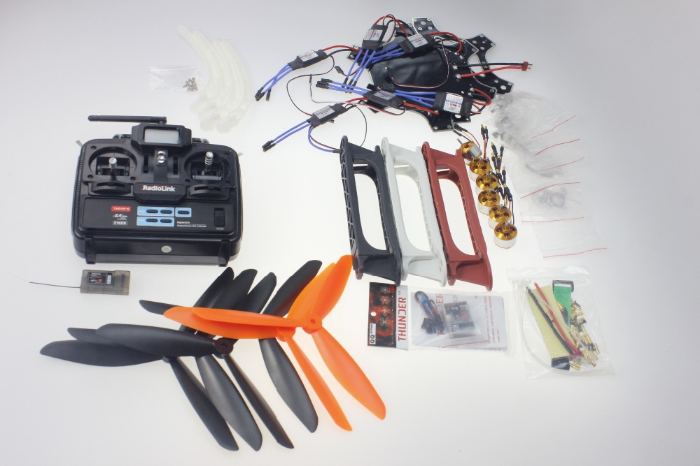 F05114-AG DIY Drone F550 Hexacopter Kit 1045 3-Props 6axle Hexa-Rotor QuadCopter UFO & Tall Landing Gear No Battery Charger FS