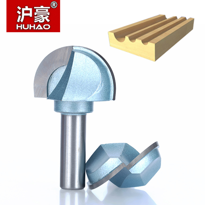 HUHAO 1pc 1/2 1/4 Shank Cove Box Bit Round Shank Router Bits For Wood Industrial Grade Woodworking Endmill Miiling Cutter 1 4 3 16 hss milling bits shank round nose cove core box router bit shaker cutter tools for woodworking tideway 3296