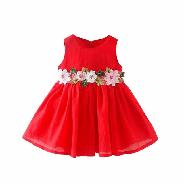 Sweet summer girls embroidery flowers dresses children's princess dresses baby dress