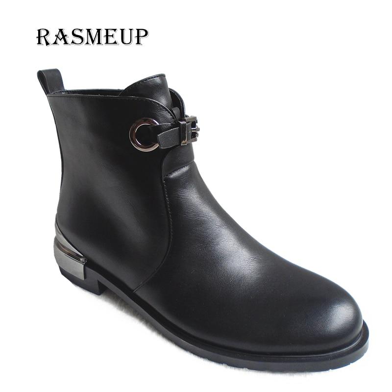 Automne Carrés Liquidation Chaussures À Cheville Bling Noir Dames Moto Femme Hiver Femmes Bottes Talons Rasmeup Boucle Glissière 34jLq5AR