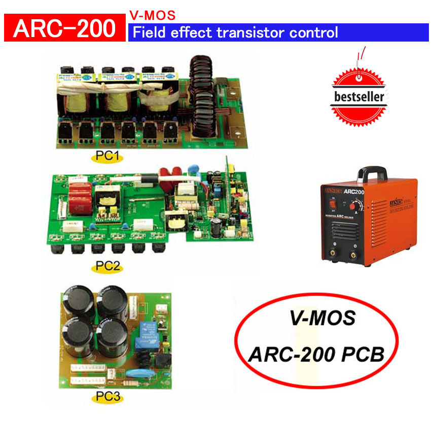 Field-effect transistor ZX7 200(AC220V) PCB with MOSFET control inverter welder(PC1+PC2+PC3) um150cdy 10 100% import authentic field effect module inverter