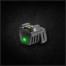 לאסרבספיד הגנה עצמית מתכווננת טקטי מיני רכבת רכוב אקדח ירוק מכוון ראיה לייזר נטענת