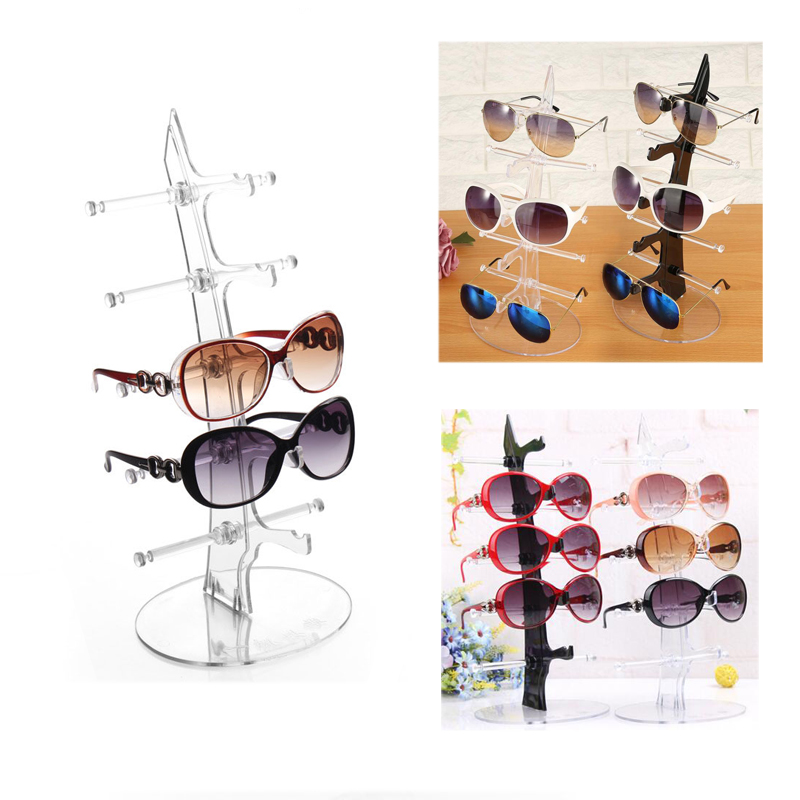 5 Layers Transparent Sunglasses Show Rack Holders Eyeglasses Display Stand Storage Holder Glasses Shelf Home Organizer