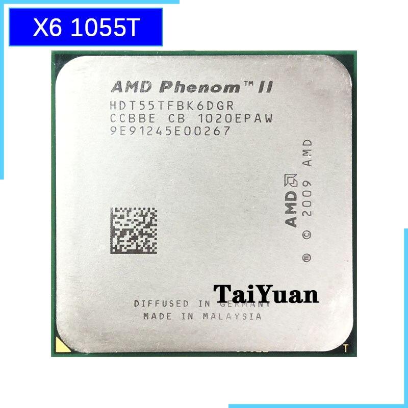 AMD Phenom II X6 1055T 1055 2.8G 125W Six-Core CPU Processor HDT55TFBK6DGR Socket AM3