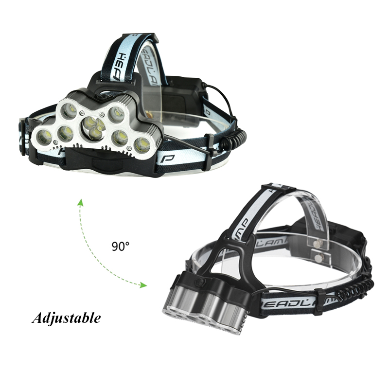Super 36000LM USB 9 CREE LED Led Headlamp Headlight head flashlight torch cree XM-L T6 head lamp rechargeable for 18650 battery