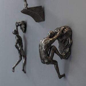 Креативные Ретро фигурки для скалолазания, скульптура из смолы, бар, ресторан, магазин, украшение на стену, подвеска для гостиной, настенные ...