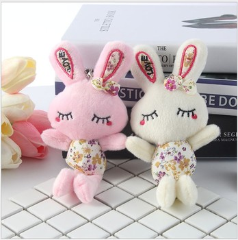 30pcs Birth ceremony raibbit key pendant wedding dolls baby shower Plush toys party decoration wedding favor gifts for guests