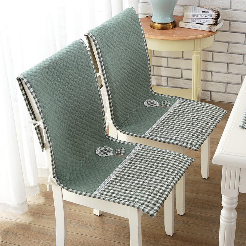 Japan Style Simple Chair Cover Lace-up Fixed Home Chair Case Anti-skid Comfortable 100%Cotton Dining Room Chair Cover 45*120cm