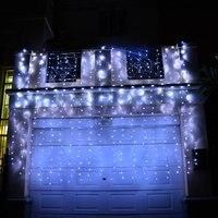 LED Eiszapfen Lichter Weihnachten Weihnachten String licht für dekoration 6*3 mt 360 led AC 220 v Eu-stecker 2 stücke Freies Verschiffen