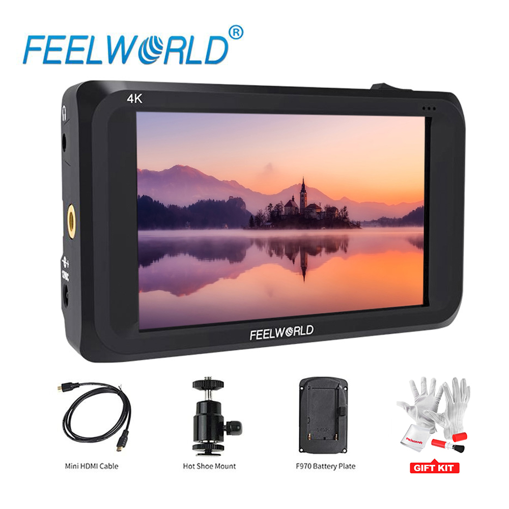 Feelworld S450-M 4.5 Inch IPS 4K HDMI 3G-SDI On-camera Field Monitor 1280x800 Camera External LCD Monitor with Peaking Focus f450 4 5 inch ips 1280x800 hd 4k field lcd camera monitor with hdmi input output uhd peaking focus and other monitor accessory
