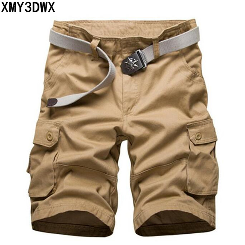 New 2018 brand men's casual camouflage loose cargo shorts men large size multi-pocket military short pants overalls 30-40 42 44