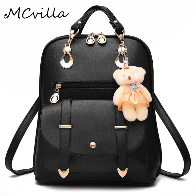 2017 Fashion Women Backpack PU Leather Women S Backpacks Teenager School Girls Bags Female BackPack Famous