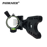 PATHUNTER Compound Bow Sight Five 0.019 Fiber Optic Pins For Maximum Yardages Adjustable Head To Square Sight Pins With Bow