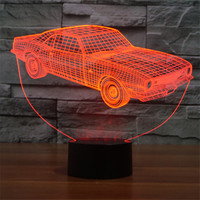 Hot Sale Cool 3D Car1 USB Led Touch Switch Nightlight Home Decor Colorful Atmosphere Bedroom Desk