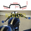 "Custom Black Motorcycle 7/8 Inch Handlebar 4"" Rise Drag Bar for Harley Chopper Bobber Cafe Racer 22mm"