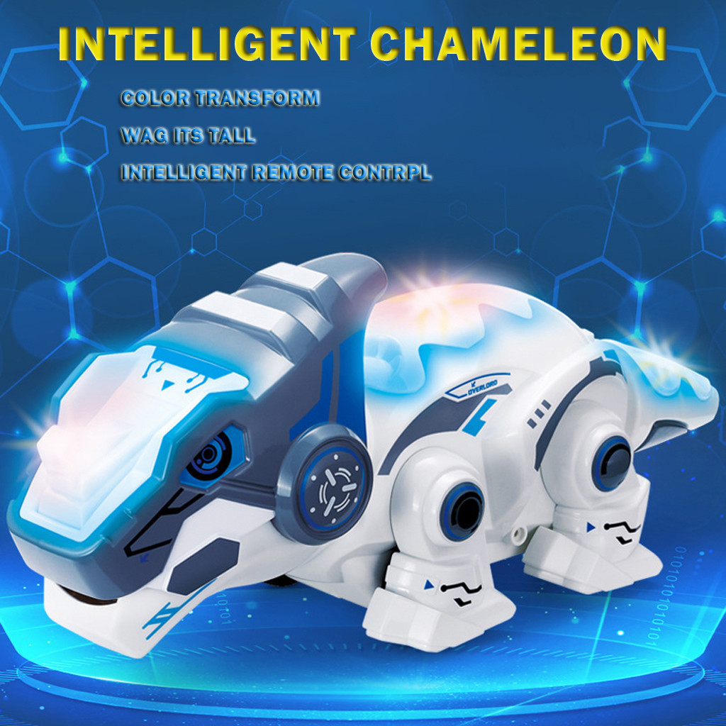 Remote Control Smart Chameleon 2.4GHz Electronic Pets Intelligent Toy Robot For Children Kids Birthday Gift Funny Toy RC Animals