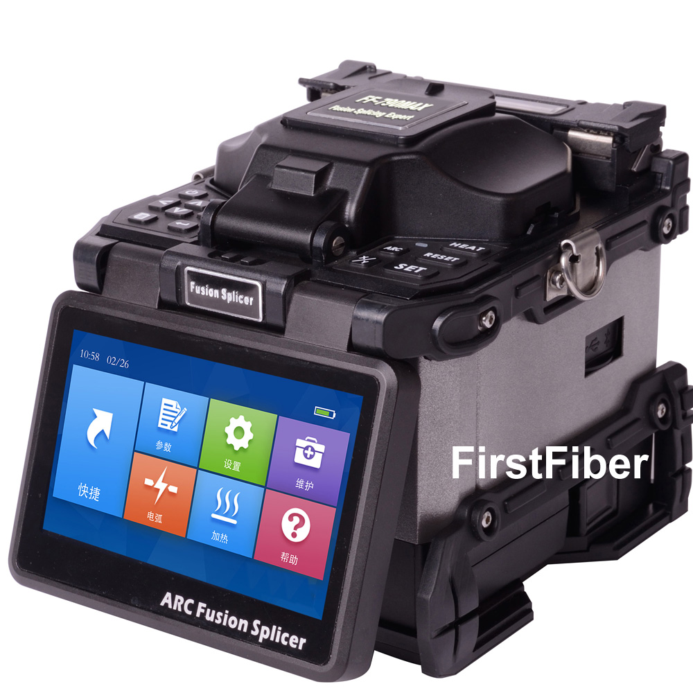 FF-790MAX 6 Motors Optical Fiber Fusion Splicing Fiber Optic Splicer Core To Core Alignment