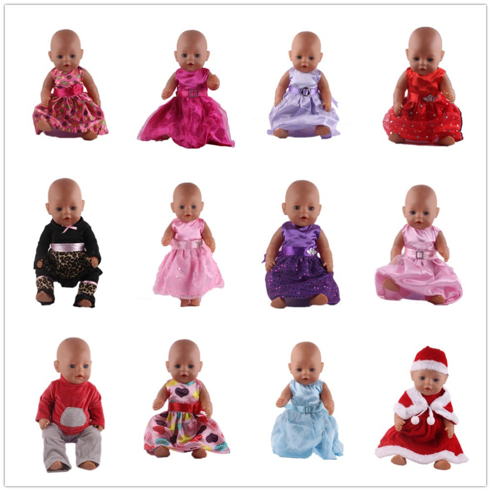 Handmade 15 Colors Princess Dress Doll Clothes for 43cm Baby Born Zapf Doll Clothes and Accessories best gift for children high quality 15 colors princess dress doll clothes for 43cm baby born zapf doll clothes and accessories best gift for children