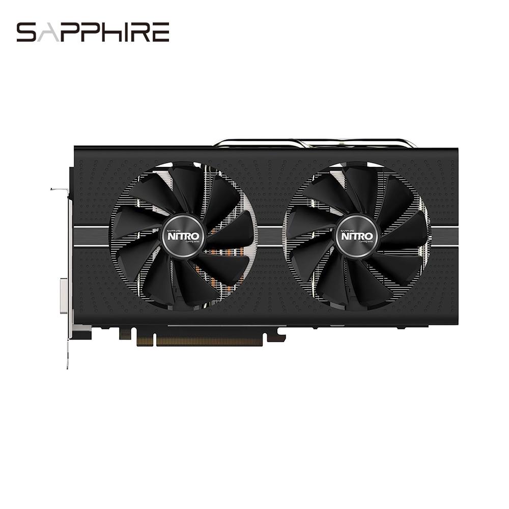 Sapphire 11265-01-20G Radeon NITRO + RX 580 8GB GDDR5 DUAL HDMI / DVI-D / DUAL DP with bac
