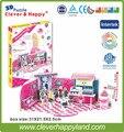 Умный и счастливую землю 3d модель головоломка День Рождения Леер бумаги головоломки diy модели головоломки девушка игрушки игры для дети бумаги