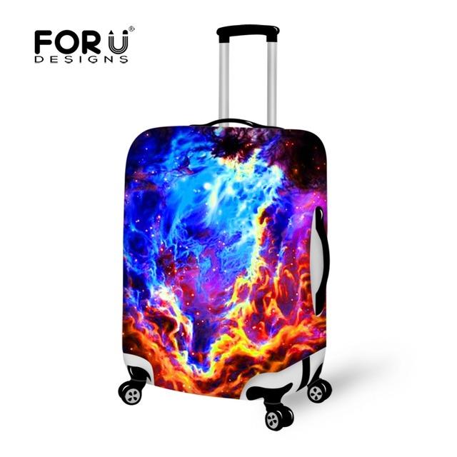 Forudesigns galaxy graffiti imprimir elastic bagagem tampas de proteção de viagem mala de bagagem tampas de proteção 18-28 polegada