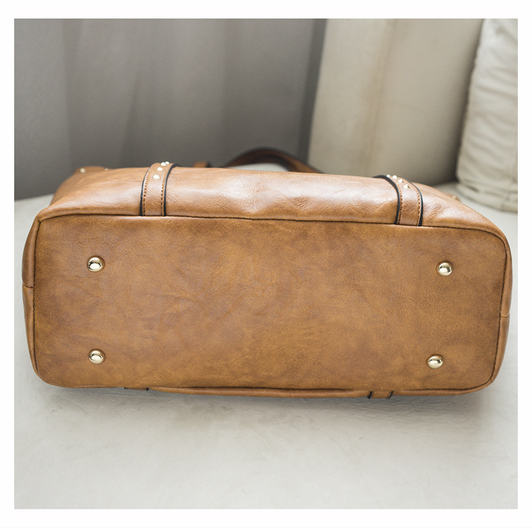 Rivet Leather Women Tote Handbag 31