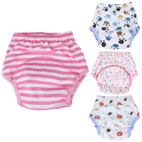 1pc Cartoon Nappy Diaper Reusable Baby Infant Nappy Cloth Diapers Soft Covers Washable Cotton Cloth Nappy Underwear