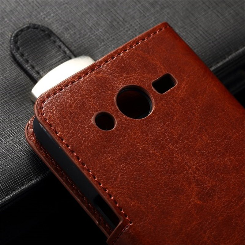 Untuk Samsung SM-G532F Kasus Balik PU Kulit Bingkai Foto Tas Penutup - Aksesori dan suku cadang ponsel - Foto 5