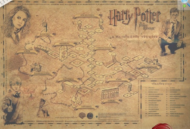 new 2014 Wizarding World of Harry Potter ancient maps Cafe ...
