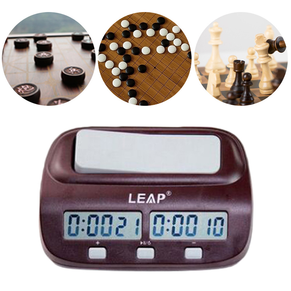 LEAP Game Competition Timer Digital LED Chess Clock I-go Count Up Down Alarm Game Competition Timer For Home