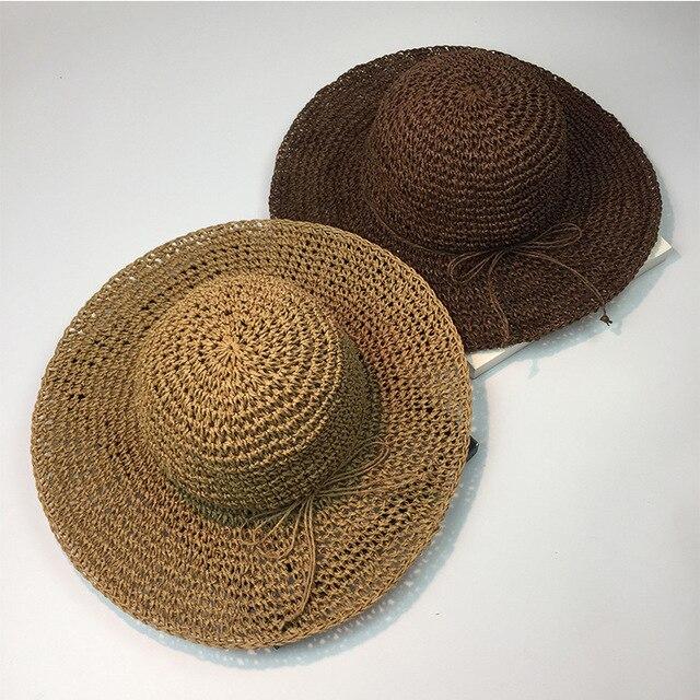 6da5df270 US $55.0 |10pcs free shipping0177 shi brim long 8cm Handmade woven hollow  straw sun hat leisure cap men women bucket hat wholesale-in Sun Hats from  ...