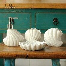 2015 НОВЫЕ Подлинная Высокое качество Средиземноморский стиль ванной покрыты 4 раза, керамические туалетными принадлежностями комплект украшения дома аксессуары