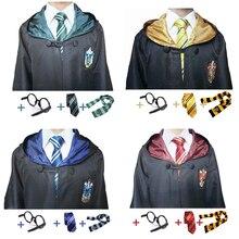 Anime Cosplay riietus Potteri riidekleit koos lipsuklaasidega Ravenclaw Gryffindor Hufflepuff Slytherin täiskasvanutele