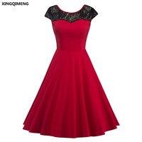 W Magazynie Dark Red Cocktail Suknie Elegancka Mała Czarna sukienka Lace Formalne Suknie Tanie Proste Kobiety Dziewczyna Krótki Prom suknia